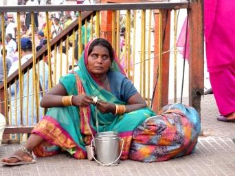 Cérémonie du couché du soleil, à Haridwar