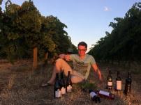 Australie - Pause dégustation entre les vignes après une bonne journée de travail